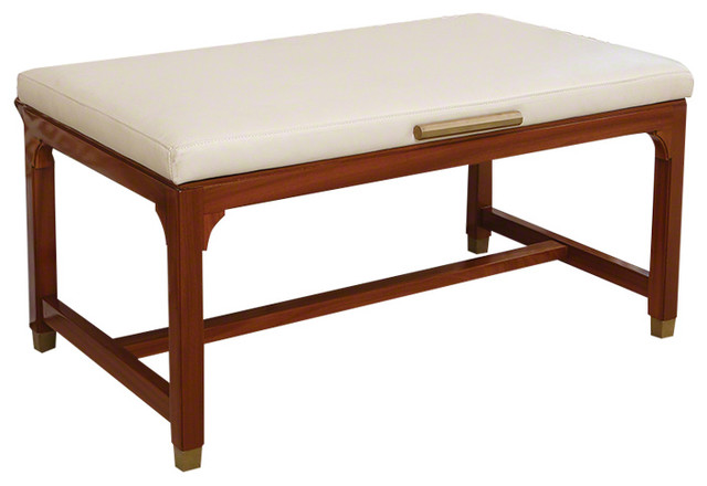 Hotel Style Folding Luggage Bench, Luxury Cushioned Seat Retro.