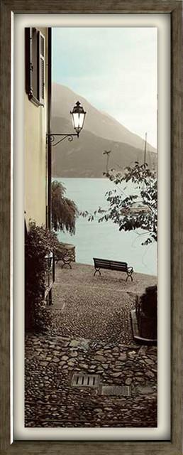 """panchina Di Lago"" Artwork By Alan Blaustein, Antique Silver, 15""x39""."