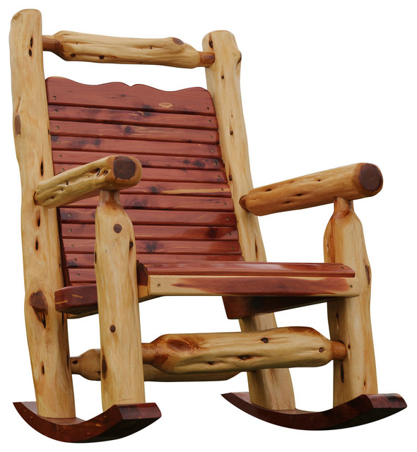 Cedar Rocking Chair Rustic Outdoor Chairs By Fine Wood Carvings And Furniture