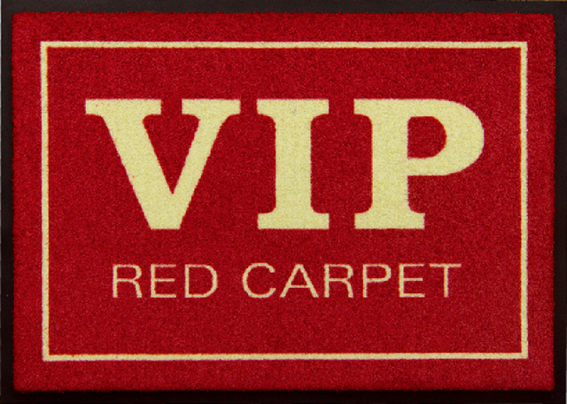 Easy Clean Red VIP Doormat, Small