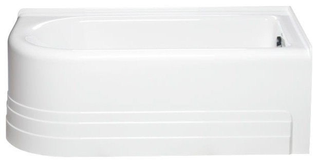 Bow 6632 Right Hand, Tub Only, White.