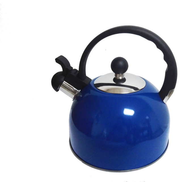 Royal Cook Stainless Steel Whistling Tea Kettle Glossy Blue
