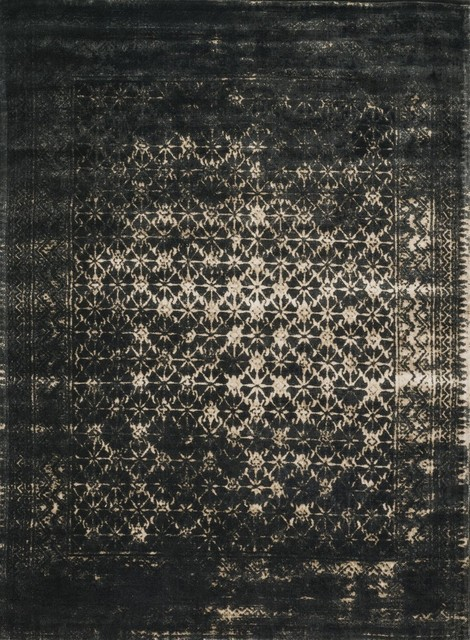 Black And Tan Area Rugs loloi journey collection rug, black and tan - traditional - area