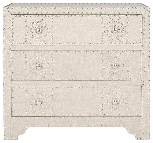 Gordy 3-Drawer Chest in Gray Finish
