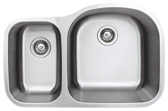 wells sinkware undermount double bowl kitchen sink contemporary rh houzz com two and a half bowl kitchen sink