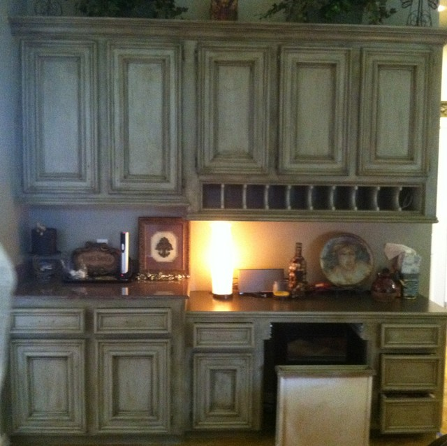 Kitchen Faux Painted Cabinets - Traditional - Houston - by ...