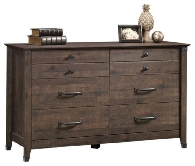 Pemberly Row 6-Drawer Dresser, Coffee Oak.