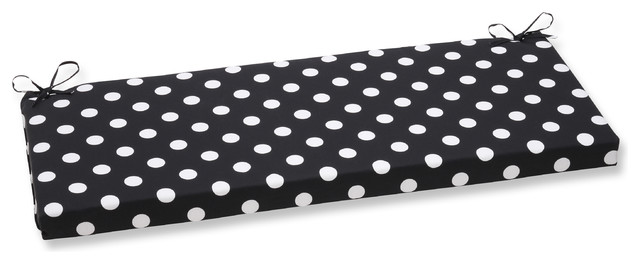 Miraculous Polka Dot Bench Cushion Black Caraccident5 Cool Chair Designs And Ideas Caraccident5Info