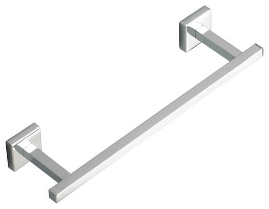 Square 12 Chrome Or Brushed Nickel Towel Bar Polished