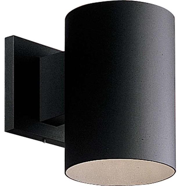 Black Outdoor Wall Light progress p5674-20/30k, cylinder outdoor wall light in antique