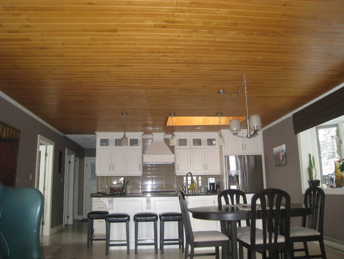 Should We Paint The Oak Ceiling In Our Kitchen Ceiling