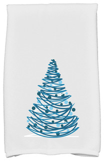 Oh Christmas Tree Decorative Holiday Geometric Print Hand Towel Contemporary Bath Towels By E By Design