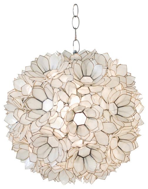 Lotus Capiz Pendant, Natural.
