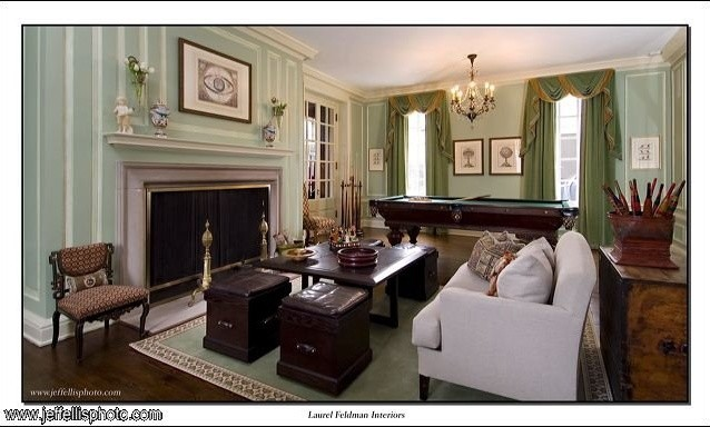 Georgian Historic Residence Traditional Living Room Chicago
