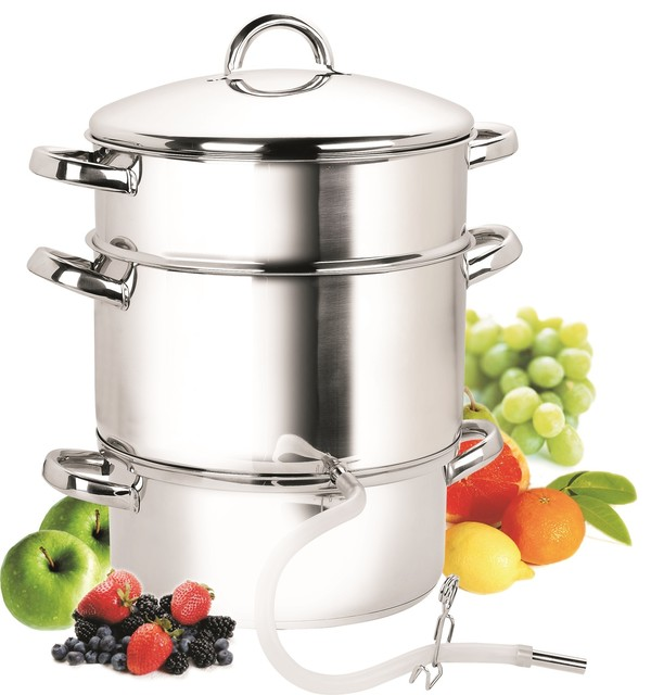 Cook N Home 11-Quart Stainless-Steel Juicer Steamer.