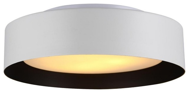 Exceptional Lynch Flush Mount Ceiling Light, White And Black Modern Flush Mount Ceiling