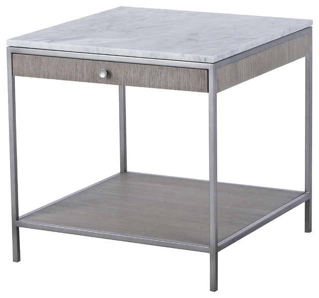 Swell Maison 55 Paxton Mid Century Modern Marble Top Silver Side Table Large Machost Co Dining Chair Design Ideas Machostcouk