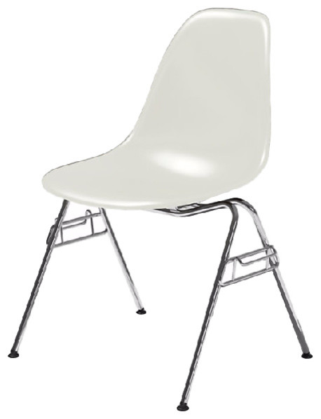 eames molded plastic side chair living room chairs by