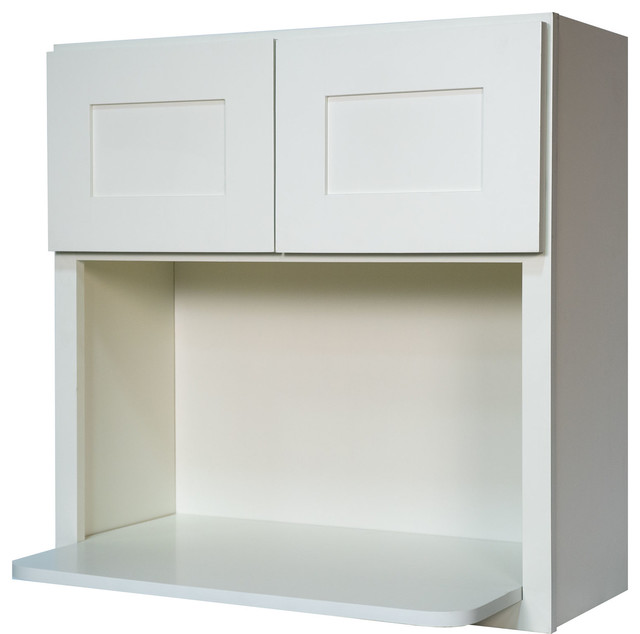 White Shaker Microwave Wall Kitchen Cabinet Contemporary