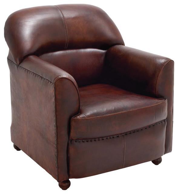 Smooth wood leather arm chair transitional armchairs