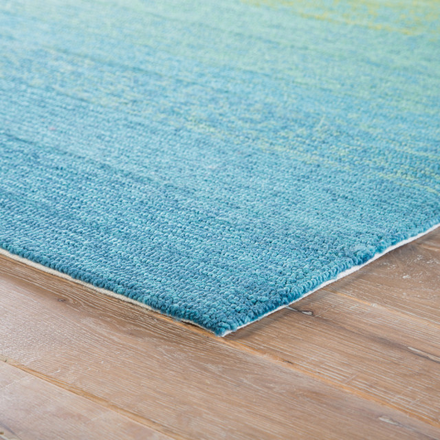 Jaipur Living Blaze Indoor Outdoor Ombre Blue Lime Green Area Rug Contemporary Outdoor Rugs By Jaipur Living Houzz