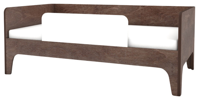 Perch Toddler Bed, Walnut And White.