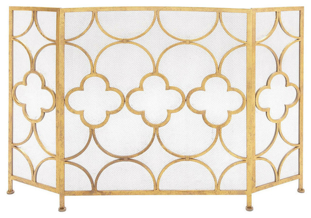 Metal Fireplace Screen.