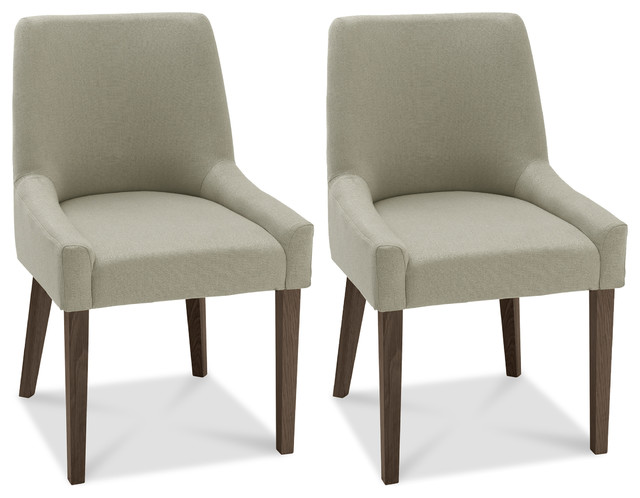 Tyler Scoop Back Light Gray Dining Chairs Set Of 2 Modern By Houzz