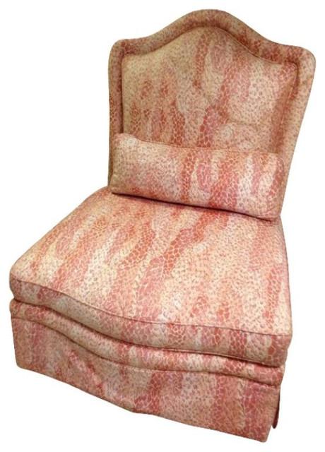 Vintage Pink Baker Slipper Chair   $900 Est. Retail   $350 On Chairish.com