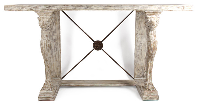 Good Leonidas French Country Antique Greek Console Table Traditional Console  Tables