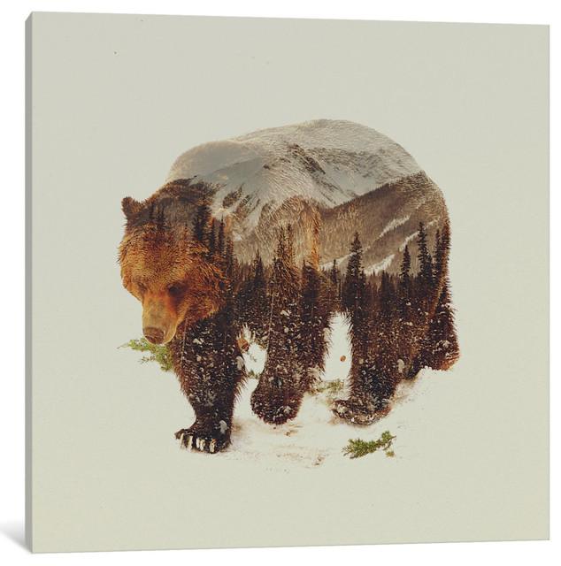 """""""Bear I"""" by Andreas Lie, 26""""x26""""x.75"""""""