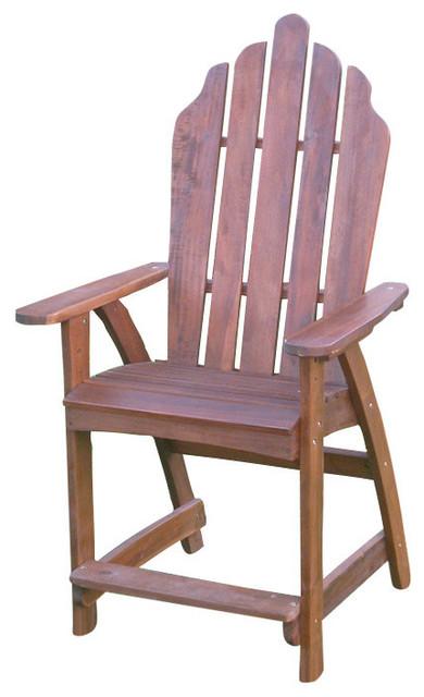 International Caravan Wood Adirondack Bar Chair Brown