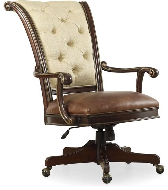 grand palais tilt swivel chair - traditional - office chairs -