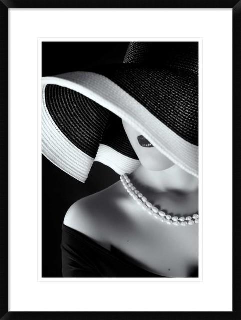 """""""la Femme Au Chapeau"""" Artwork, 20.7""""x28""""."""