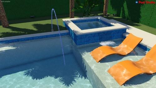 rectangular pool designs with spa. Rectangular Pool Designs With Spa T