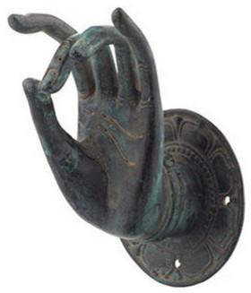 Buddha Mudra Hand I Asian Wall Hooks By Brilliant