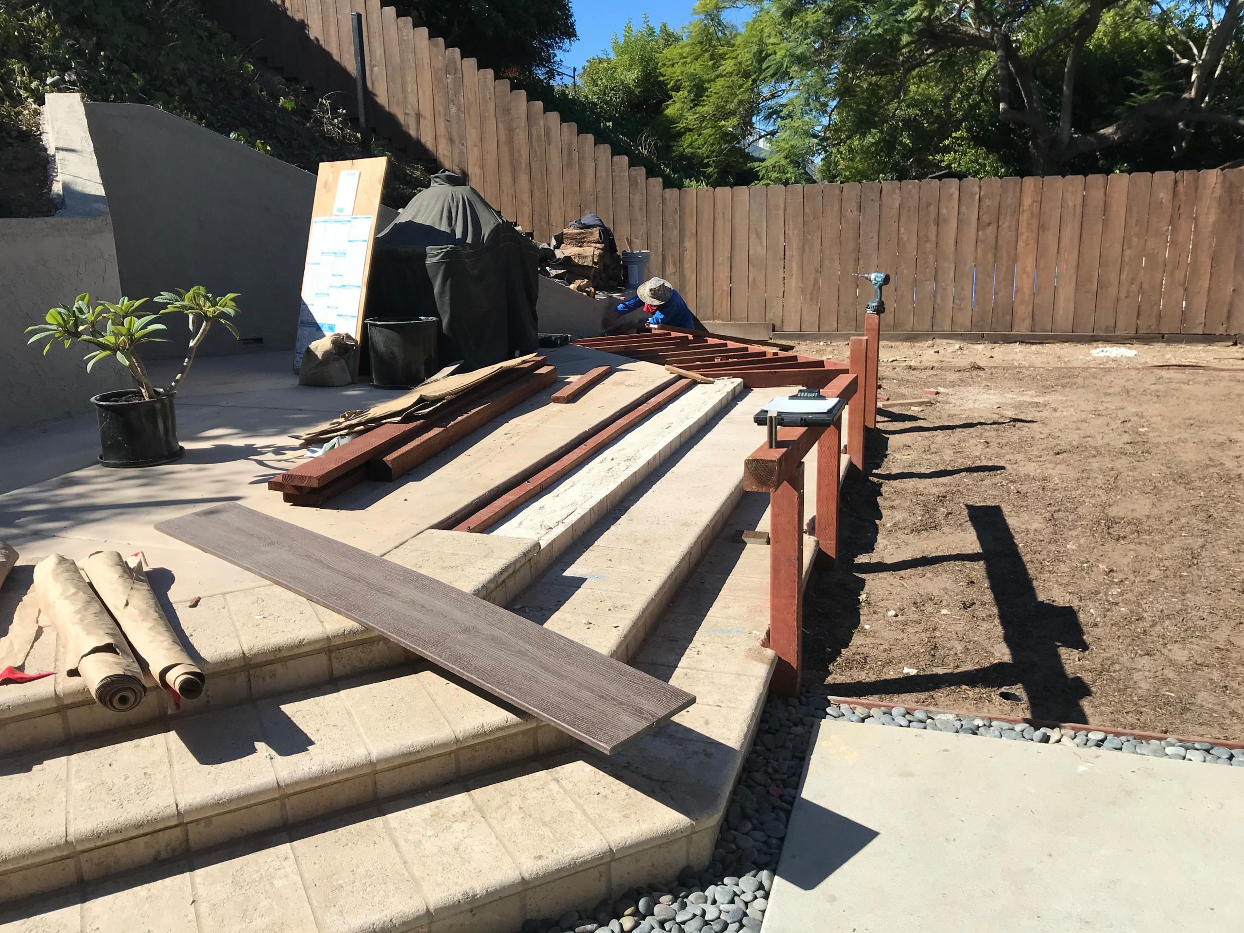 Building Trex Step Treads