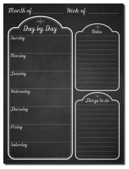 R2h Methods &x27;day By Day&x27; Dry Erase Daily Planner On Artplexi. -1