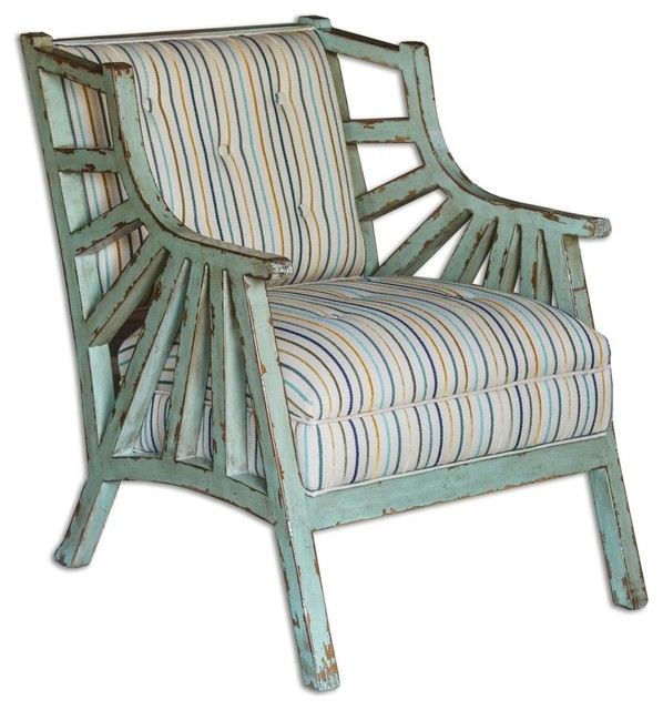 Uttermost 23637 Surata Occasional Chair  Mango Wood With Distressed Sea  Glass beach style. Uttermost 23637 Surata Occasional Chair  Mango Wood With