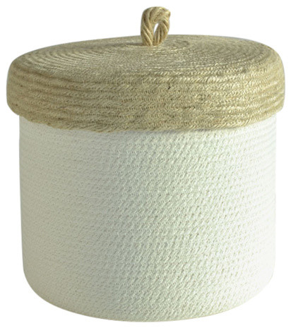 Cotton Box With Jute Lid, Large