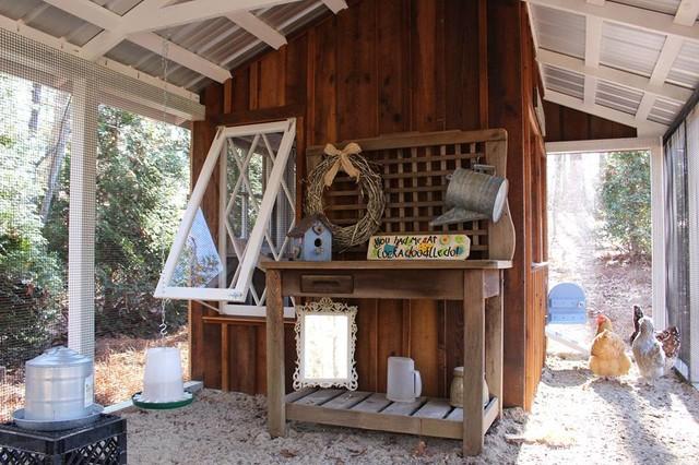 Custom Chicken Coop built with Reclaimed Wood rustic-exterior - Custom Chicken Coop Built With Reclaimed Wood - Rustic - Exterior