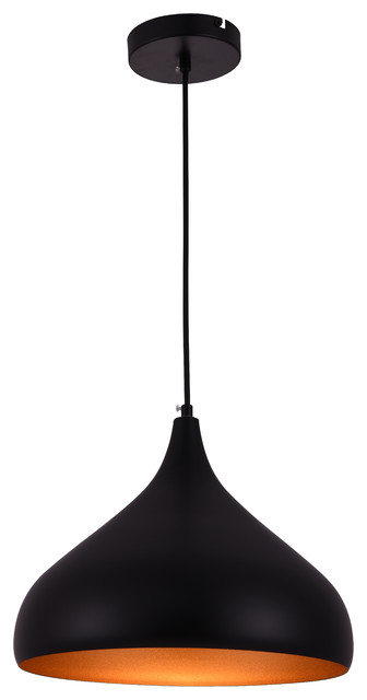 Circa 1-Light Pendants, Black.