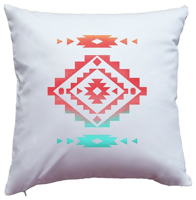 Modern Southwest Pillow : Native American Indian Southwest Aztec Inspired Chic Pillow Cover - Modern - Pillowcases And ...