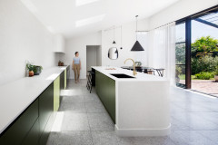 Room of the Week: A Minimalist Retro Kitchen in Green