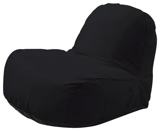 Brilliant Cosmic Bean Bag Chair Lounger Nylon Indoor Outdoor Self Expanding Black Customarchery Wood Chair Design Ideas Customarcherynet
