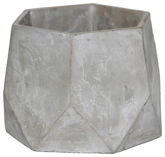 Hexagon Cement Flower Pot Concrete