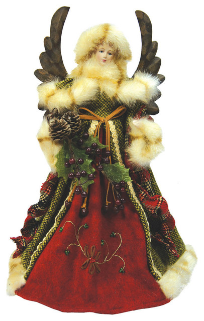 16 Quot Green Forest Angel Tree Topper Traditional