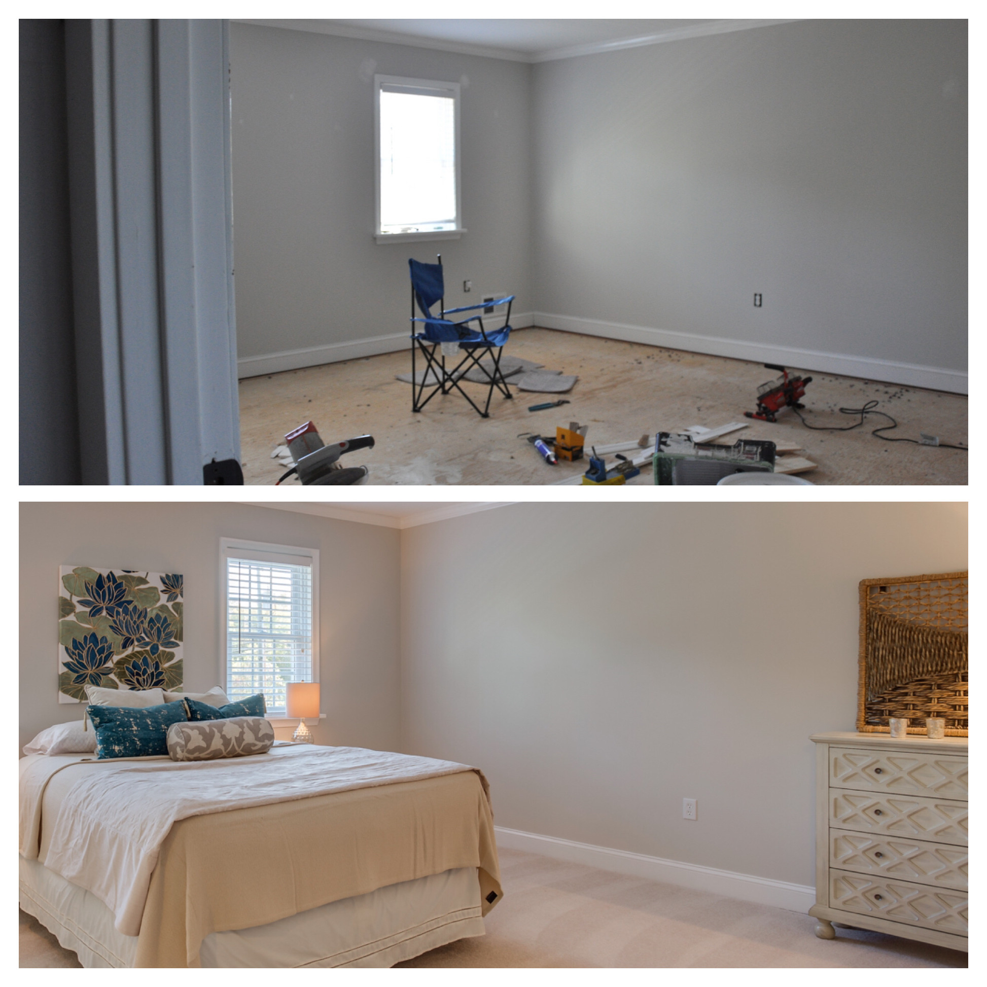 Bedroom: Before and After