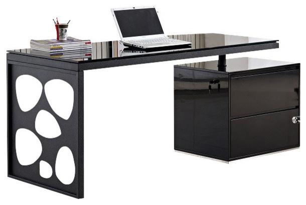 Merveilleux Ju0026M Furniture KD01R Modern Office Desk In Black