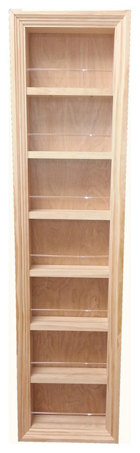 """49.5"""" Gaines Square Frame - In The Wall Spice Rack, 2.5"""" Deep."""